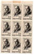 J2032  Petain Bloc De 9 Du 525 * - Unused Stamps
