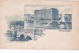 482345Amsterdam, Amstelhotel – Nieuwe Amstelbrug Rond 1900. - Amsterdam