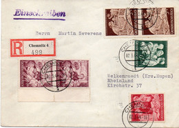 "ALLEMAGNE : REC . "" CHEMNITZ   "" . 1944 . - Storia Postale"