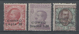 Corfù 1923 - Soprastampati Con Valore In Moneta Greca **      (g1453) - Corfu