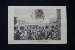 MAROC ESPAGNOL - Affranchissement Surchargé De Rabat Sur Carte Postale ( Marché Aux Céréales)  En 1911 - L 77736 - Spanish Morocco