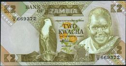 ♛ ZAMBIA - 2 Kwacha Nd.(1980-1988) UNC P.24 C - Zambia