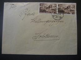 Schweiz 1941- Nationales Bauwerk Waagrechtes Paar Der Mi.Nr. 386 Auf Brief - Briefe U. Dokumente
