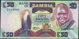 ♛ ZAMBIA - 50 Kwacha Nd.(1986-1988) UNC P.28 - Zambia