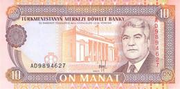 10 Manat Turkmenistan UNC - Turkmenistan