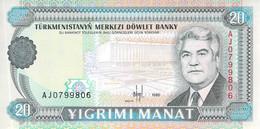20 Manat Turkmenistan 1995 UNC - Turkmenistan
