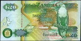 ♛ ZAMBIA - 20 Kwacha 1992 {sign. Mwanza} UNC P.36 B - Zambia