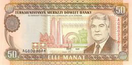 50 Manat Turkmenistan 1995 UNC - Turkmenistan