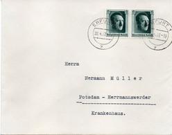 """ALLEMAGNE : OBL . """" ERFURT  """" . 1937 - Storia Postale"""
