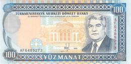 100 Manat Turkmenistan 1995 UNC - Turkmenistan