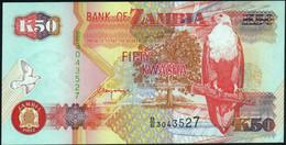 ♛ ZAMBIA - 50 Kwacha 1992 {sign. Mwanza} UNC P.37 B - Zambia