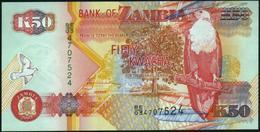 ♛ ZAMBIA - 50 Kwacha 2003 UNC P.37 D(2) - Zambia