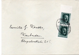"""ALLEMAGNE : OBL . """" HASSEL  FRANKFURT"""" .1937 - Storia Postale"""