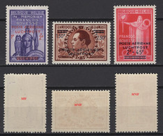 Belgique : 1946. COB N° PA21/23 2 Sont **, MNH Et 1 Est *, MH Voir Scan. - Luftpost