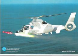 Poster Descriptif Hélicoptère De Combat Panther AS 565 SB D'Eurocopter Tirant Un Missile - Aviación