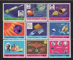 Paraguay 1969 Mi# 1901-1909 ** MNH - Space Missions - América Del Sur