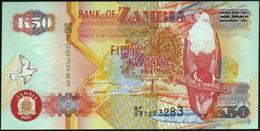 ♛ ZAMBIA - 50 Kwacha 2007 UNC P.37 F - Zambia