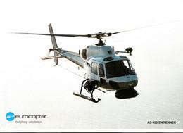 Poster Descriptif Hélicoptère De Surveillance Maritime Eurocopter FENNEC AS 555 SN - Aviación