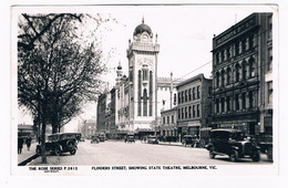 AUS-339   MELBOURNE : Flinders Street Showing State Theatre - American Samoa