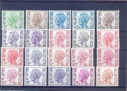 Een Lot Dienstzegels Type Elstrom Postgaaf ** MNH Papiersoorten - Dienstzegels