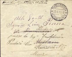 1913-Tripoli D'Africa Annullo Su Lettera Del 23 Giugno, Bollo Comando Presidio Militare Di Tripoli - Tripolitania