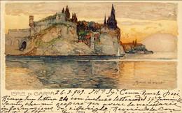 1909-Isola Di Garda. Annullo Servizio Postale Lago Di Garda 6, Diretta In Germania - Brescia