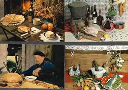 RECETTES Lot De 12 Cartes Postales - Recetas De Cocina