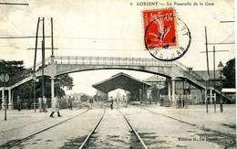LORIENT  =  La Passerelle De La Gare       1923 - Lorient