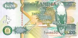 20 Kwacha Banknote Bank Of Zambia UNC - Zambia