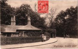 Angleterre Le Grand Londres Weybridge Queens Road Très Belle Carte Très Bon Etat Très Très Rare Postée 1914 - Altri