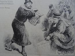 Rare Grand Menu Ancien1898 N°234 Diner Bon Bock Illustrateur Laurent Gsell Doct Leon Petit Lermina Maladie Tuberculose - Menus