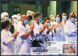 ESPAÑA SPAIN (2020) Carte Maximum Card ATM Agradecimiento - COVID 19 Thank You To Essential Workers Coronavirus, Doctors - Tarjetas Máxima