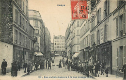 75020 - PARIS - Rue Julien Lacroix à La Rue Lesage - Animée CP 392 - Distretto: 20