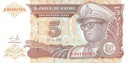 5 NZ Banknote 1993 Bank Of Zambia UNC - Zambia
