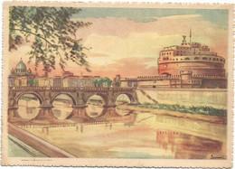 E3507 Roma - Castel Sant'Angelo - Illustrazione Illustration / Non Viaggiata - Castel Sant'Angelo