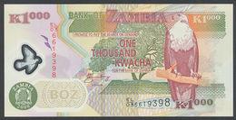 ♛ZAMBIA - 1.000 Kwacha 2008 {Polymer} UNC P.44 F - Zambia