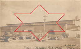 """CP Photo 1919 SAINT-NAZAIRE - Camp Américain N°7, Montage De Camions, """"Park Réception Moteur"""", Auto (A225, Ww1, Wk 1) - Saint Nazaire"""