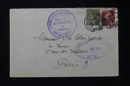 FRANCE - Cachet De La Commission Des Réparations Du Bureau De Vienne ( Autriche ) En 1920 Sur Enveloppe - L 77772 - 1877-1920: Periodo Semi Moderno