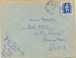 ALGERIE BLIDA-ANNEXE 1 ALGER TàD 1-3-1954 - Cartas