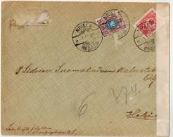 Lettre De  NIVALA Pour Helsinki  1915 - Storia Postale