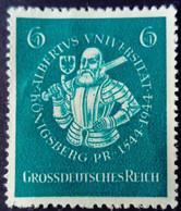 Allemagne Germany Deutschland 1944 Université Albertus Koenigsberg Albrecht Yvert 816 (*) MNG - Ungebraucht