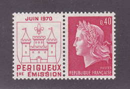 TIMBRE FRANCE N° 1643 NEUF ** - 1967-70 Marianne Of Cheffer