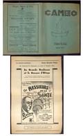 NAMUR   Programme Cinéma Caméo  Octobre 1935 - Programmes