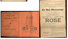 NAMUR   Programme Cinéma Caméo  Juin 1936 - Programmes