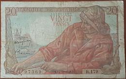 Billet 20 Francs PÊCHEUR 14 - 10 - 1948 FRANCE R.179 - 20 F 1942-1950 ''Pêcheur''