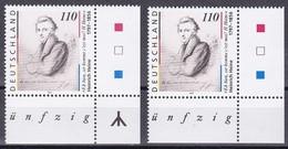 Bund 1997 - Mi.Nr. 1962 I + II - Postfrisch MNH - Heine Mit Rune Eckrand - Nuovi