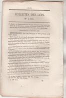 Bulletin Des Lois 1330 De 1846 - Flavigny Vitteaux Côte D'Or Débarcadère Tourrettes Drôme Pont Liman Charente Inférieure - Decretos & Leyes