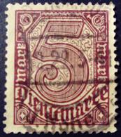 Allemagne Germany Deutschland 1920 Service Yvert 28 O Used - Dienstpost