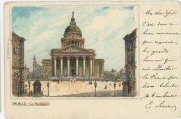 75 Paris Précurseur Litho Le Panthéon - Otros