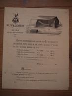 Paris Publicité W. Walcker Armée Cantine Réglementaire Lit De Campagne Toile De Tente 1870 équipement Militaire - 1800 – 1899